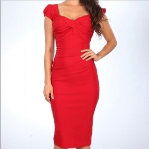 Stop Staring billion dollar baby red pinup dress
